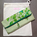 Vintage Scarf Green Clutch Bag