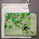 Vintage Scarf Green Clutch Bag