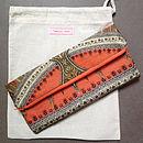 Thumb vintage scarf orange clutch bag
