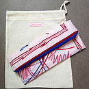 Vintage Scarf Pink Clutch Bag