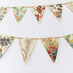 Autumn Bunting - room decorations