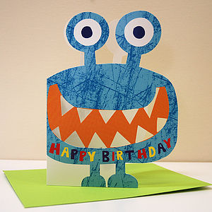 Little Monster Malcolm Birthday Card