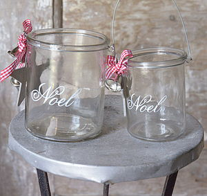 Glass Etched Christmas Candle Holder - shop by price