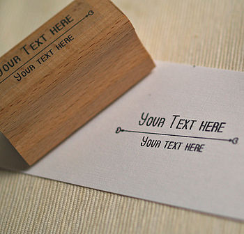Elegant 'Your Text' Rubber Stamp