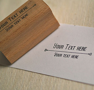 Elegant 'Your Text' Rubber Stamp - wedding favours
