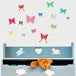 'Colourful Butterfly' Wall Sticker Set - children's room