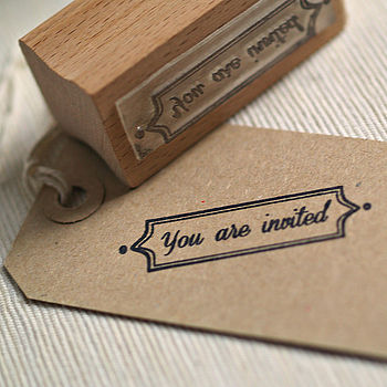 'You Are Invited' Rubber Stamp