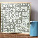 Personalised 'Home Is Where…' Word Art