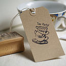 Tea Party Rubber Stamp