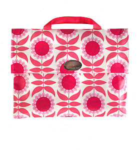 Pink Sunflower Music Book Bag
