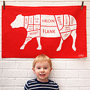 Butchers Lamb Tea Towel