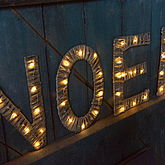 Willow Letters With Lights - christmas decorations