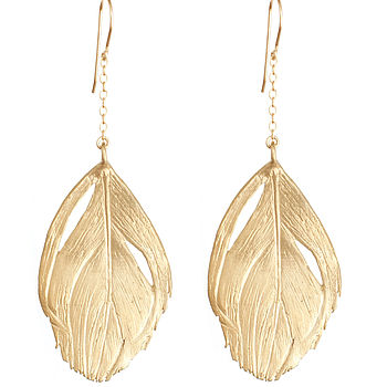 Gold I Am A Swan Earrings