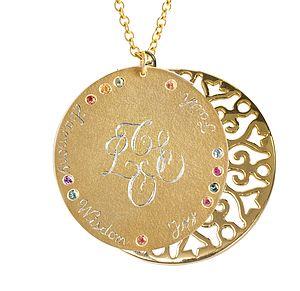 Multicoloured Sapphire Pendant - gemstones