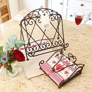 Home Baking Cook Book Stand And Napkin Holder Gift Set