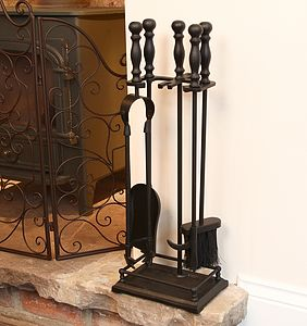 Fireside Tool And Matches Gift Set - fireplace accessories