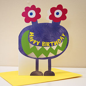 Little Monster Maeko Birthday Card