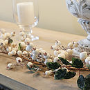 White Snowberry Christmas Garland