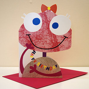 Little Monster Mabel Birthday Card
