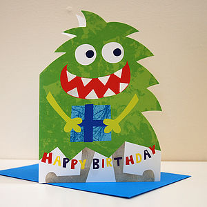 Little Monster Malik Birthday Card