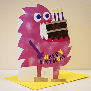 Little Monster Mamie Birthday Card