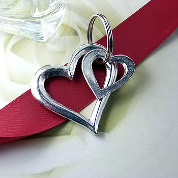 Open Heart Keyring Love Gift