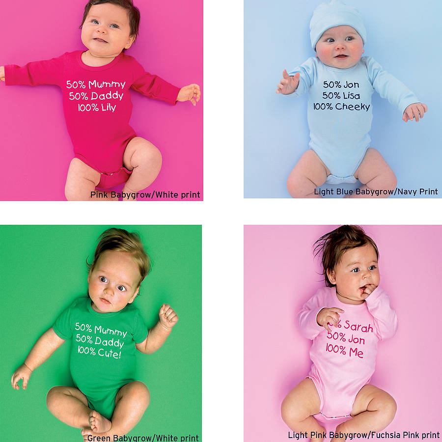 Personalised Percentage Babygrow Or T Shirt By Simply Colors