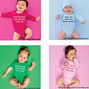 Personalised Percentage Babygrow Or T Shirt