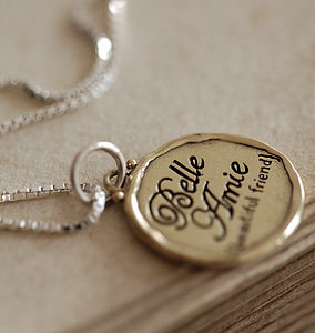 Personalised 'Beautiful Friend' Necklace - for friends
