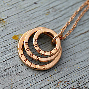 Personalised Rose Gold Family Names Necklace - necklaces & pendants