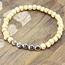 Natural square wooden bead bracelet