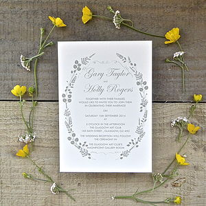 Fern Wedding Stationery - invitations