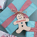 Personalised Gingerbread Man Wooden Tag
