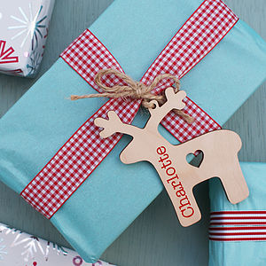 Personalised Reindeer Christmas Tag - shop by category