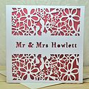 Personalised Laser Cut Wedding Card