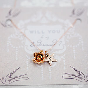 'Will You Be My Bridesmaid' Necklace - be my bridesmaid?