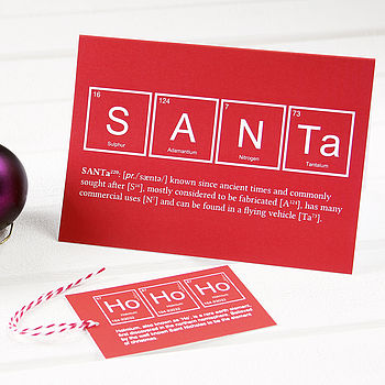 Santa Christmas Cards And Tags Pack
