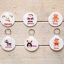 Christmas Personalised Badge Or Key Ring