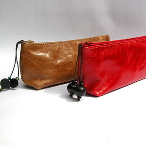 Leather Make Up Or Pencil Case - make-up bags
