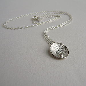 Silver And Diamond Little Leaf Necklace - necklaces & pendants