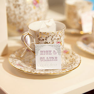 Set Of 40 Personalised Tea Bags - edible favours