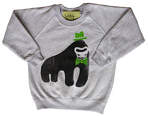 Children's Gorilla Hand Printed Sweatshirt - clothing