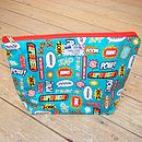 Superhero Toiletry Wash Bag - Large
