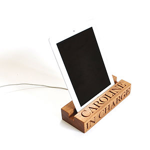 I Pad/I Pad Mini Charging Stand/Dock - personalised
