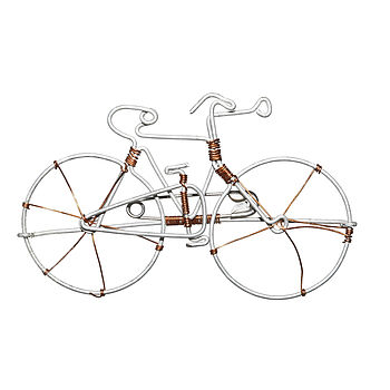 Bicycle Metal Pin   Silver