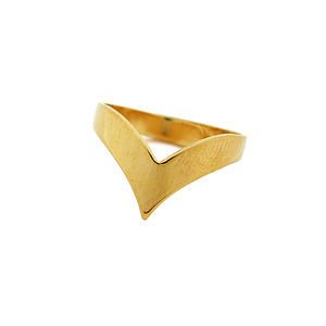 Chevron Gold Or Silver Plated Ring - rings