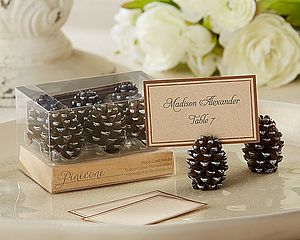 Pine Cone Place Card Holder - dining room