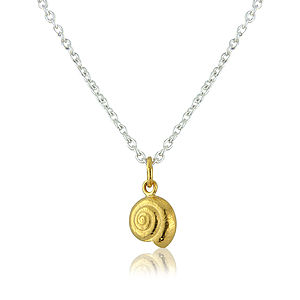 22ct Gold Vermeil Round Shell Necklace