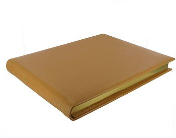 Personalised Leather Cellar Book Butterscotch