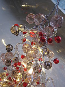 Ruby Crystal LED Light Chain - parties